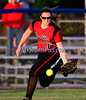 6/11/2014 Mike Orazzi | Staff<br /> Berlin High School's Kelsie Anderson (16) during a 7-0 loss to Sacred Heart Academy in the Class L Semifinal at West Haven High School on Wednesday night.