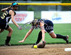 7/19/2014 Mike Orazzi | Staff<br /> Vermont's Abigail Johnson (15) and Kristy Svarczkopf (16) against Maine during the Little League Softball Eastern Regional Leon Breen Memorial Field in Bristol on Saturday.