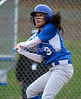 4/18/2014 Mike Orazzi | Staff Southington High School's Caroline Burke (3) Friday at Bristol Eastern.