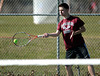 4/9/2014 Mike Orazzi | Staff<br /> Bristol Central's Dante Tagariello during Wednesday's tennis match with Eastern at Eastern.