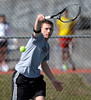 4/9/2014 Mike Orazzi | Staff<br /> Bristol Central's Nick Savino during Wednesday's tennis match with Eastern at Eastern.