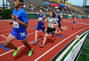 7/19/2014 Mike Orazzi | Staff<br /> One of the mile races during the Nutmeg State Games at Veteran's Memorial Stadium, Willowbrook Park in New Britain on Saturday morning.
