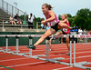7/19/2014 Mike Orazzi | Staff<br /> Ali Moraveck during a hurdle event at the Nutmeg State Games at Veteran's Memorial Stadium, Willowbrook Park in New Britain on Saturday morning.