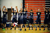 6/13/2014 Mike Orazzi | Staff<br /> Members of the Newington High School volleyball team during the CIAC 2014 State Boys Volleyball Tournament at Shelton High School Friday night.
