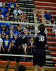 6/13/2014 Mike Orazzi   Staff<br /> Newington High School's Jordan Aprea (7) and Oxford High School's Nathan Seibert (16) during the CIAC 2014 State Boys Volleyball Tournament at Shelton High School Friday night.