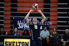 6/13/2014 Mike Orazzi | Staff<br /> Newington High School's Riley McManus (8) during the CIAC 2014 State Boys Volleyball Tournament at Shelton High School Friday night.