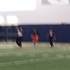 Crappy pic, but the dude in the white shirt is Ricardo Louis.  They were doing some agility drills.