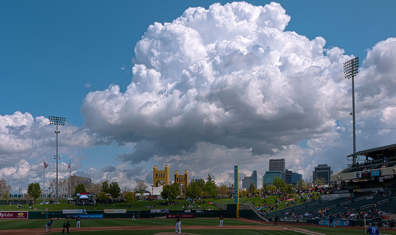 A passing shower over Sacramento