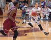 Dobyns-Bennett's #30, Cason Byrd, races the ball up court. Photo by Ned Jilton II