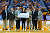 January 20, 2013: Head coach Emeritus Pat Summitt accepts a check for Alzheimer's Research from Sam's Club during the NCAA basketball game between the University of Tennessee  Lady Vols and the University of Alabama Crimson Tide at Thompson-Boling Arena in Knoxville, TN