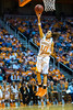 January 20, 2013: guard Meighan Simmons #10 of the Tennessee Lady Volunteers lays in a uncontested basket during the NCAA basketball game between the University of Tennessee  Lady Vols and the University of Alabama Crimson Tide at Thompson-Boling Arena in Knoxville, TN