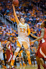January 20, 2013: guard Taber Spani #13 of the Tennessee Lady Volunteers drives to the basket during the NCAA basketball game between the University of Tennessee  Lady Vols and the University of Alabama Crimson Tide at Thompson-Boling Arena in Knoxville, TN