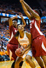 January 20, 2013: forward Bashaara Graves #12 of the Tennessee Lady Volunteers of the Tennessee Lady Volunteers is guarded by Alabama Crimson Tide forward Alicia Mitcham #32 during the NCAA basketball game between the University of Tennessee  Lady Vols and the University of Alabama Crimson Tide at Thompson-Boling Arena in Knoxville, TN