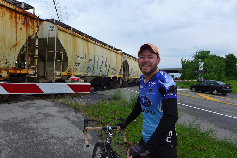 Ben Masters from Harrisburg riding the full Canal trail both ways.