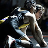 "Fairview High School's Melvin Gutierrez, left, and Martin Selby look at the clock while wrestling in the 138 lb. during a wrestling match against Fairview High School on Thursday, Dec. 6, at Fairview. Gutierrez won the match. For more photos of the match go to  <a href=""http://www.dailycamera.com"">http://www.dailycamera.com</a><br /> Jeremy Papasso/ Camera"