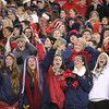 Central Catholic fans cheer a second quarter TD. (SUN/Julia Malakie)