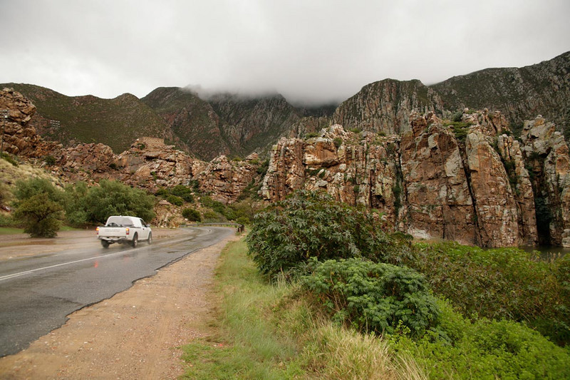 The bad weather continues to follow us, this time to Montagu, a town famous for always being dry.