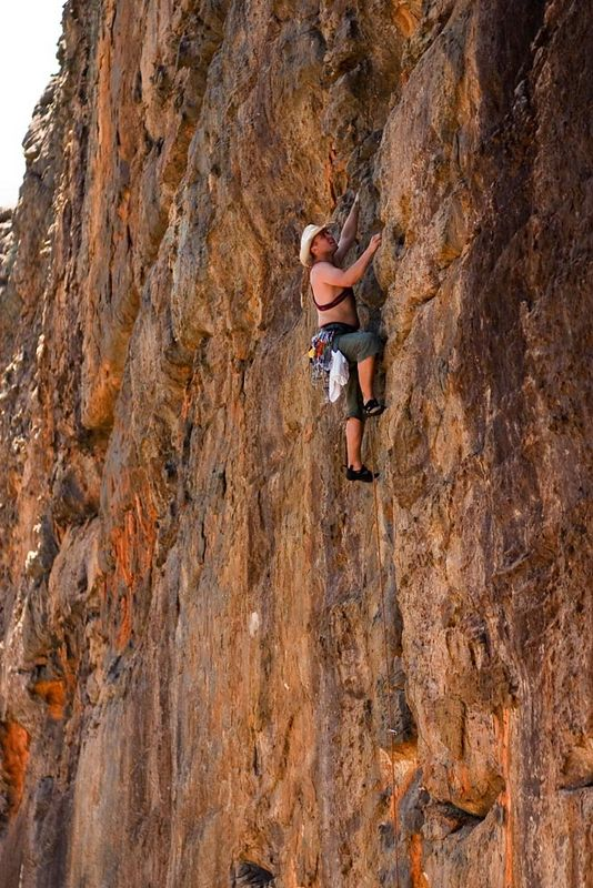 Unknown climber on Jurassic Park (17), Clicke Wall