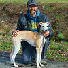 David with his 8 month old Male Whippet, Benson