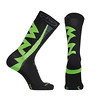 Northwave Extreme Winter Socks<br /> Maat: M = 40/43<br /> Kleur: Zwart/Groen Fluo<br /> Prijs: 15,50 Euro (Van Eyck C. Heirstraat 28. 9880 Lotenhulle-Aalter)<br /> <br /> MAIN MATERIALS: Merino Wool and polyammide<br /> WEIGTH: 32 gr<br /> HEIGHT: 25 cm<br /> REINFORCEMENTS: Tip and heel<br /> HEM: Double<br /> TECH: Tight knitting