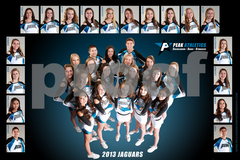 2012 Cheer Peak Jags Poster 12x18