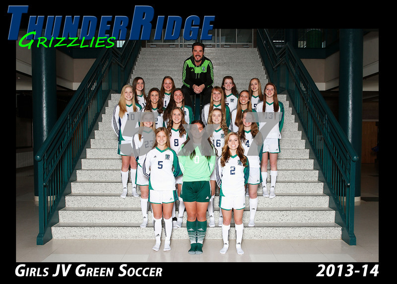 2013 Soccer Girls TRHS JV Green 5x7 Team