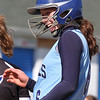 Dracut vs Methuen softball. Dracut's Kaylee Kacavas reacts after beating out an infield hit. (SUN/Julia Malakie)
