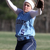 Dracut vs Methuen softball. Dracut starting pitcher Shannon Ramirez pitches to Methuen. (SUN/Julia Malakie)