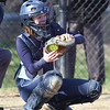 Dracut vs Methuen softball. Dracut catcher Kaylee Kacavas (6). (SUN/Julia Malakie)