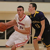 Tewksbury's Kevin Dick (15) and Littleton's Connor Bassett (11). (SUN/Julia Malakie)