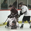 Westford Academy vs Chelmsford girls hockey. Chelmsford's Rachel Hopkins (16) and Westford Academy's Alyssa Ware (10) and Katherine Walker (6). (SUN/Julia Malakie)