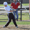 Columbia's Tristen Rindfleisch hits an RBI single in fourth. STEVE MANHEIM/CHRONICLE