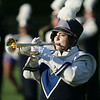 Sarah Melendez plays at half time in the Clearview band. photo by Ray Riedel
