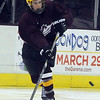 Christian Duerk of Avon Lake passes the puck at the GCHSHL All-Star game at Quicken Loans Arena on Mar. 7.   Steve Manheim