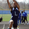 Eddie Williamson of Lorain compete in the boys long jump. STEVE MANHEIM/CHRONICLE