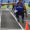 Midview's Dante Redwood compete in the boys long jump. STEVE MANHEIM/CHRONICLE