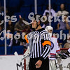 Zak Blazic<br /> <br /> I hate to complain, but I felt cheated in lastnight's win, and I definitely felt cheated in this evening's loss.  Blazic makes judgements to keep the game in play, but this is at the cost of ignoring certain infractions, and then turning around and calling a penalty for the same infraction seconds later.<br /> I've tried to be objective about this, but all I can say is that I fell cheated whether we win or lose.