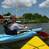 Kayaking with Mom and Chris off Baycrest Ave, Westhampton, NY.