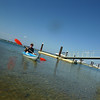 Kayaking off Tiana Beach (bay side), Hampton Bays, NY.