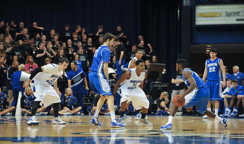 ISU defeats nationally ranked Creighton at Hulman Center.