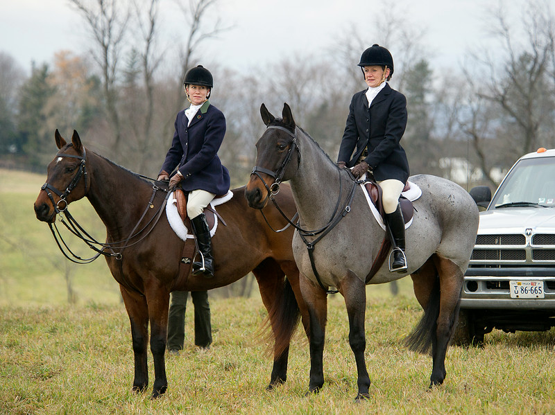 Middleburg Hunt Club prior to the annual Christmas parade in Middleburg VA