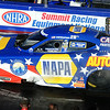 Ron Capps in funny car qualifying at the NHRA Nationals in Norwalk on July 4. STEVE MANHEIM/CHRONICLE