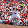 Cincinnati Reds starting pitcher Mike Leake throws against the Cleveland Indians during a baseball game, Monday, May 27, 2013, in Cincinnati. (AP Photo/David Kohl)