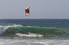 Riding the Tube on a Kite Board at Jamala Beach California - Photo by Pat Bonish