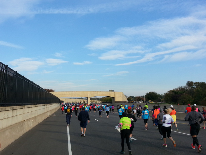 Running past the Pentagon during the MCM10k