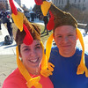Two Turkeys after the 2013 Turkey Trot