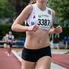Eerste plaats voor Helena Van Der Lint op de 800 M voor scholieren dames - Memorial Leon Denys - Atletiekpiste Izegem - West-Vlaanderen