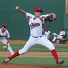 Lowell Spinners vs Williamsport Crosscutters baseball. Lowell's Brandon Show pitching in relief in the fifth inning. (SUN/Julia Malakie)