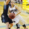 Joplin's Lexi Sohosky looks for an opening past her Har-Ber defender as she drives toward the bucket Friday night, Dec. 13, 2013, during the 17th Annual Freeman Lady Eagle Classic at Missouri Southern State University's Robert Ellis Young Gymnasium.<br /> Globe | T. Rob Brown
