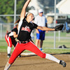 Carl Junction's Sydni Beck pitches against Carthage Monday evening, Sept. 30, 2013, at Carl Junction's softball field. Globe | T. Rob Brown